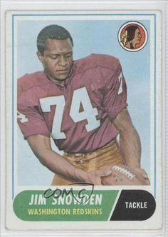 Jim Snowden RC (Rookie Card) COMC REVIEWED Good to VG-EX Washington Redskins (Football Card) 1968 Topps #212 by Topps. $1.25. 1968 Topps #212 - Jim Snowden RC (Rookie Card) COMC REVIEWED Good to VG-EX