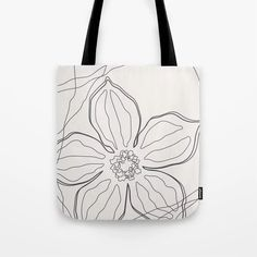 """High quality white tote bag perfect for your shopping or as a yoga bag for a stylish look. The floral line art design is in neutral color and available in 13""""x13"""" 16""""x16"""" 18""""x18"""". Line Art Design, Cute Presents, White Tote Bag, Gifts For An Artist, Yoga Bag, Tote Backpack, Summer Accessories, Printed Tote Bags, Dusty Pink"""
