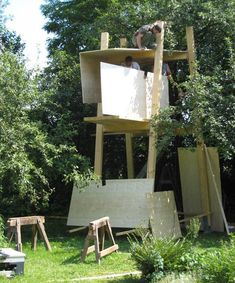Free Standing Tree House Plans a new tree house begun in the san juan islands pt 1 | tree house