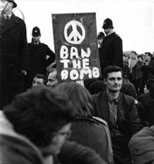 A hard core of sit down demonstrators, Ruislip riot, c 1961. Kerry Dundas photo.