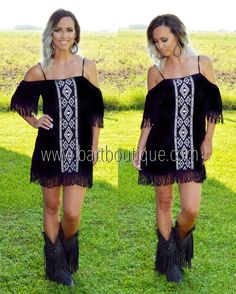 Tejas Embroidered Dress ~ Black ~ Shop www.bartboutique.com & follow @bar_t_boutique on Instagram to stay up to date on New Arrivals