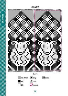 Far isle Knitted Mittens Pattern, Fair Isle Knitting Patterns, Knit Mittens, Knitting Charts, Knitted Gloves, Knitting Stitches, Knitting Socks, Graph Design, Chart Design