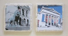 Chicago Museums Coasters Field Museum and The Art by MimmStudio