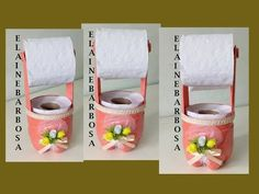 Diy Crafts Jewelry, Diy And Crafts, Tissue Paper Holder, Wine Glass Candle Holder, Toilet Paper Storage, Hand Embroidery Videos, Diy For Men, Recycled Crafts, Bottle Crafts