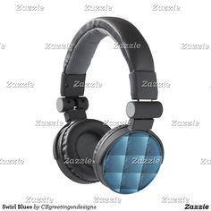 Swirl Blues Headphones