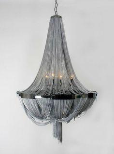 Glamorous Shimmering Steel Chandelier//