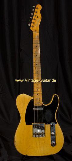 1953 Fender Telecaster, original vintage.   Model for neck and body color and transparency.