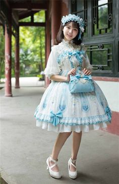 ✦Cheap Lolita Dresses✧: Gothic Lolita Dress, Jumpers and Quirky Fashion, Cute Fashion, Girl Fashion, Fashion Dresses, Harajuku Fashion, Kawaii Fashion, Lolita Fashion, Mode Lolita, Gothic Lolita Dress