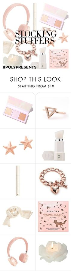 """#PolyPresents: Stocking Stuffers"" by deepwinter ❤ liked on Polyvore featuring Lime Crime, Michael Kors, Puma, H&M, Juicy Couture, Sephora Collection, Merkury, Biedermann & Sons, contestentry and polyPresents"