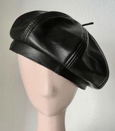 MADAME HELENE FURS LUXURY FASHION GENUINE SOFT BLACK LEATHER BERET OS NWT   fashion  clothing  shoes  accessories  womensaccessories  hats (ebay link) e239fc56b977
