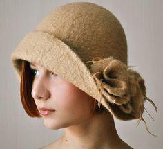 handfelted hat by ShellenDesign, via Flickr