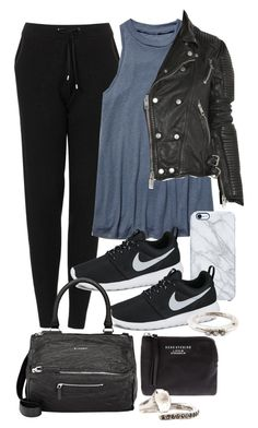 """""""Untitled #10919"""" by minimalmanhattan ❤ liked on Polyvore featuring Topshop, Free People, NIKE, Uncommon, Givenchy, Burberry, Acne Studios and Rosa Maria"""