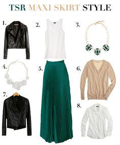 A maxi Skirt  http://tallskinnyrich.com/blog/2012/11/how-to-wear-a-maxi-skirt/#