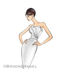 Kate-Bridal Fashion Illustration-by Brooke Hagel by BrooklitBride
