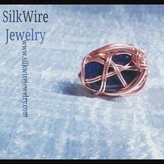 Sodalite Ring of Wire for Women & Men by SilkWire Jewelry. Deepened Intuition  #gemstonejewelry #ring #handmade #etsy #men #women #blackowned #SilkWireJewelry