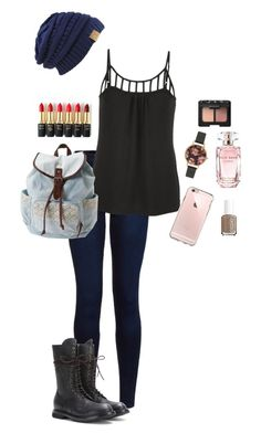 """Untitled #214"" by hjpnosser ❤ liked on Polyvore featuring Urban Bliss, Rick Owens, maurices, Aéropostale, Olivia Burton, L'Oréal Paris, Elie Saab, Essie and NARS Cosmetics"