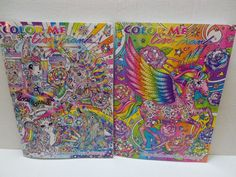 #LisaFrank #AdultColoring Book Color Me SET OF 2 #Pegasus Cover 2016 NEW RELEASE