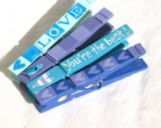 YOU'RE the BEST Clothespin hand painted magnets