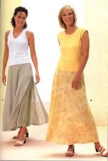 Burda 8974 Misses Skirt sewing pattern