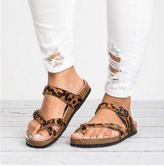 Pxmoda Womens Spring Summer Slip On Ankle Strap Flip Flop Flats Footed Gladiator Cork Sole Slide Sandals US 5, White