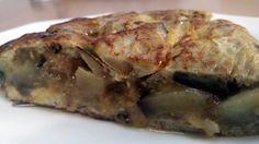 Cómo hacer tortilla de berenjenas, queso y anchoas, al estilo de Mariaje