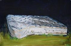 Olivier Larivière - Mattress - Oil on paper 46x70cm 2012