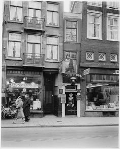 Restaurant De Groene Lantaarn, Haarlemmmerstraat 43, Amsterdam, 25 januari 1952. Foto: Ben van Meerendonk