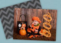 Halloween photo card ideas #pumpkin #halloweencards
