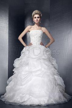 Charming Strapless Ball Gown Floor-length Dasha's Wedding Dress $187.49
