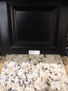 St Cecilia Granite is a great match with black cabinets - Bathroom Granite - Ideas of Bathroom Granite - St Cecilia Granite is a great match with black cabinets Redo Kitchen Cabinets, Kitchen Countertop Materials, Kitchen Redo, New Kitchen, Bathroom With Black Cabinets, Kitchen Ideas, Kitchen Hutch, Dark Cabinets, Green Kitchen