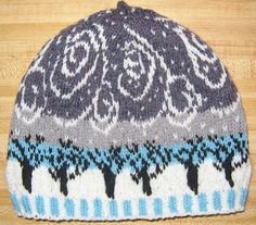 Ravelry: Snow Squall pattern by Deborah Tomasello Beautiful knitting pattern! Fair Isle Knitting, Knitting Yarn, Hand Knitting, Knitting Charts, Knitting Patterns, Yarn Projects, Knitting Projects, Knit Or Crochet, Hat Patterns