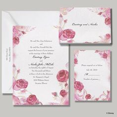 Briar Rose Aurora Invitation. TenderMoment.cceasy.com