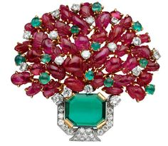 "Bulgari - ""Giardinetto"" - made to resemble a potted plant in bloom circa 1959"