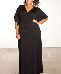 Another great find on #zulily! Black Joan Maxi Dress - Plus by Sealed With a Kiss Designs #zulilyfinds