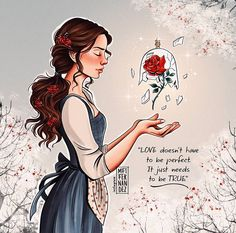 Beauty and the Beast Disney Fan Art, Disney Pixar, Disney E Dreamworks, Disney Amor, Disney Princess Quotes, Film Disney, Disney Belle, Princess Art, Disney Magic
