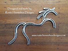 Primitive Horse, designed by Rustic Horseshoe Designs