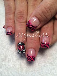Valentine's animal print nails