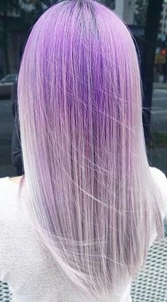 Pastel lavender purple hair color