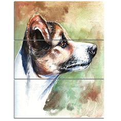 DesignArt 'Jack Russell Terrier' 3 Piece Wall Art on Wrapped Canvas Set