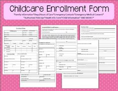 Checklist for opening a day care center day care little for Daycare information sheet template