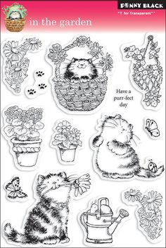 Amazon.com: Penny Black Clear Stamp Set, In The Garden: Arts, Crafts & Sewing