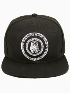 f9867599a057c Black Cap With White Androsphinx Embroidery
