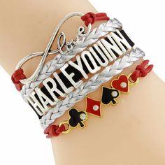 Harley Quinn Poker Bracelet