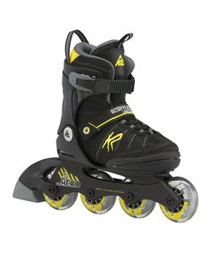 5ac6365a8fd Love this Black  amp  Yellow Sk8 Hero Inline Skates - Kids by K2 Skates on