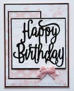Happy Birthday Thinlit, Layered Leaves embossing folder, Fresh Florals dsp stack - all from Stampin' Up!