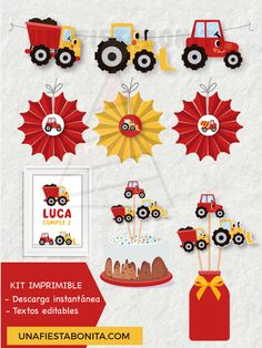 Construction Party Decorations, Diy Party Decorations, Party Themes, Vintage Jeep, Lightning Mcqueen, Planner Stickers, Baby Sock Bouquet, Homemade Blankets, Baby Shower Wording
