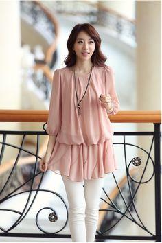 PNKTP0018 - Long Blouse http://www.pinkemeraldfashion.com/#!product/prd1/1097135501/pnktp0018---long-blouse