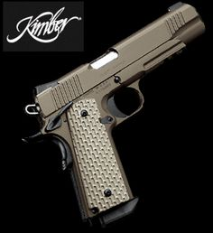 Kimber Custom 1911 Desert Warrior .45 ACP Pistol ...  One day I will get this for my Hubby as the best gift ever!