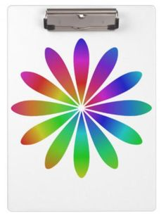 Rainbow flower clipboards $34.20