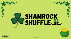 SHAMROCK SHUFFLE | VIRTUAL PE GAME | St. Patrick's Day Zoom Game & Dance... Pe Games, Games For Kids, Physical Activities, Preschool Activities, Morning Songs, Brain Breaks, Wild Animals, Workout Videos, St Patricks Day